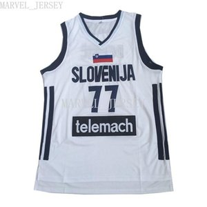 cheap custom Slovenia Luka Doncic 77 white basketball JERSEY XS-5XL NCAA
