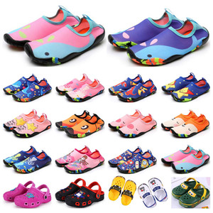 Scarpe da giornale per bambini Scarpe sportive Wading Sandali traspiranti Sandali Beach Indossare antiscivolo resistente all'usura Cartoon Hole Shoes Boys Girls Summer Trainer