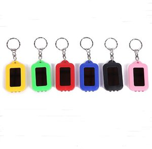 LED Keychain Light emergency LED lamps Torch Flashlight of Key Fob Solar Energy Power Keychain Lamp Light Part Gift Multi Light SN3391