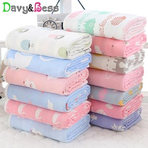 6 Layers Muslin Baby Blanket Newborn Cotton Muslin Swaddle Wrap Children's Blanket Baby Swaddle Blanket Square Winter Quilt Bath 200928