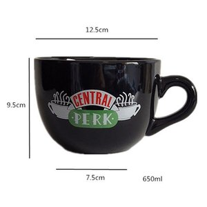 Creative Friends Central Perk Cappuccino Mug Oversized Ceramic Coffee and Tea Cup Anniversary Gifts For Friend