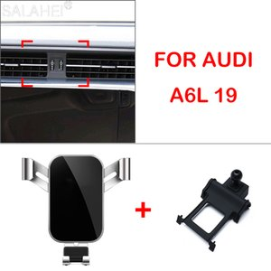 GPS Mobile Holder Phone Gravity Navigation Stand Bracket For Audi A6 A7 2019-2020 Year Car Styling Accessories