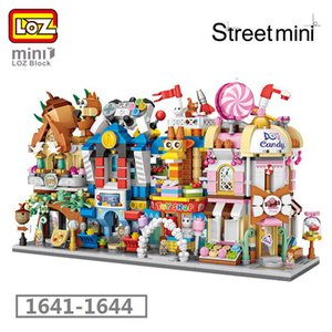 Loz Mini Blocks City View Scène Café Boutique de détail Architectures Modèles Bâtiment Jouet de Noël pour enfants