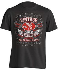 75th Birthday Gif Jahrgang No 75 Born 1944 neue Art und Weise Marken-Qualitäts-lustige Casual s Tops Sport mit Kapuze SweatshirtHoodie Männer T-Shirt