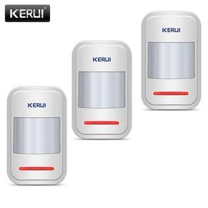 Détecteur de capteur de mouvement Kerui pour le système d'alarme Home GSM PSTN Czujnik Ruchu 3PCS / Lot Garage alarme sans fil Capteur de PIR infrarouge sans fil