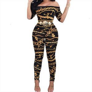 Autumn Off Shoulder Jumpsuits Long Pants For Women Elegant Fitness Short Sleeve Boho Playsuit Sexy Club Rompers Overalls