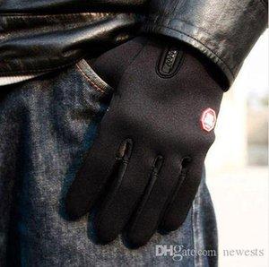 작업 장갑 안전 장갑 방풍 하이킹 캠핑 레저 전체 손가락 가죽 양털 열 장갑 된 Fc