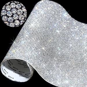 20 24 centímetros * Sobre fita cristal folha autocolante Rhinestone Etiqueta com Gum Sticks diamante para DIY Decoração Carros Phone Cases Cups EWA1767