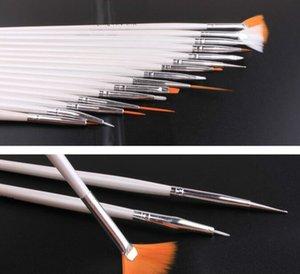 2021 Бесплатная доставка 15 шт. Nail Art Польская живопись кисть косметики ногтей искусства DIY Draw Dotting Pen Tips Set Tools Pro Nail Art Liner дизайн комплект