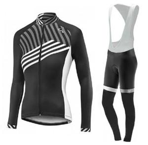 Les femmes du vélo veste chemise à manches longues vélo costume jersey bretelles pantalon vélo Vêtements d'équipe vêtements de vélo d'hiver CYCLISME