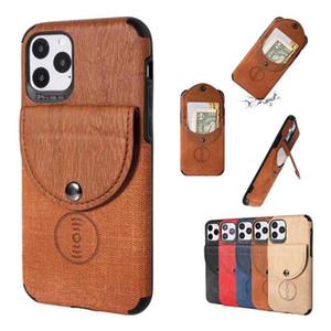 Bolsa multifuncional de la caja del teléfono de la cartera con el coche de la atracción magnética del teléfono Slot de la tarjeta del soporte del teléfono para iPhone 11 Pro Max XR XR x 8 7 PLSU Tapa del teléfono