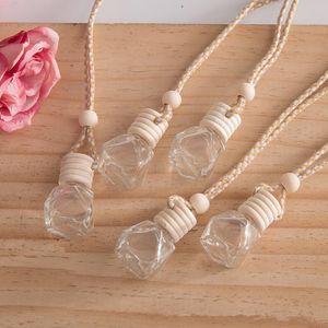 Car perfume bottle car pendant perfume ornament air freshener for essential oils diffuser fragrance empty glass bottle BWF1279