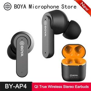 BOYA BY-AP4 TWS Earbuds Bluetooth 5.0 Echte drahtlose Stereo-Kopfhörer QI Ladetasche 6H Spielzeit in-Ear-Headset für Smartphone