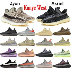 New Yecheil Kanye Running Shoes West V2 Black Reflective Cloud White Earth Synth Static Zebra Lundmark Yeshaya Desert Sage Sports Sneakers