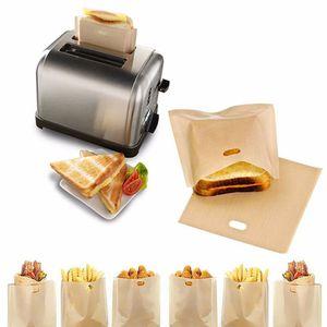 비 스틱 재사용 가능한 빵 토스터 가방 샌드위치 튀김 다용도 내열 가방 주방 요리 액세서리