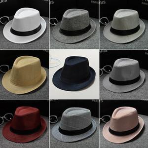 2020 England Retro Men's Fedoras Top Jazz Plaid Hat Spring Summer Autumn Bowler Hats Cap Classic Version chapeau Hats