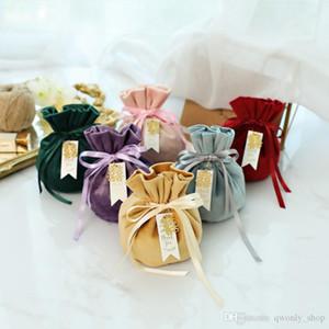 Flannelette Tragetasche Hochzeits-Süßigkeit-Beutel-Geschenk-Beutel Verpackung Beutel Süßigkeit-Kasten-Schmuck-Speicher-Beutel für Partei-Geschenk-Verpackung