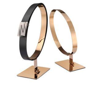 Free shipping high-grade Belt display racks Stainless Steel girdle holder desktop Leather belt waistband display stand rack