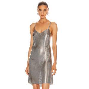 Metal chain Backless Summer Sling Dress party prom V-neck Night club Bar Show Dresses Vestidos 2020