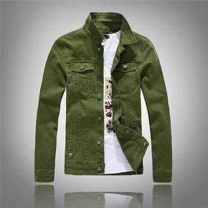 Hombres Nueva Llegada Moda Denim Chaqueta Abrigos Moda Slim Casual Blue Denim Jacket Plus Tamaño M-4XL Tops Masculinos