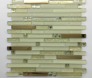 2021 hot sale Crystal glass tile factory direct sale mosaic bar counter background wall decorative strip mosaic