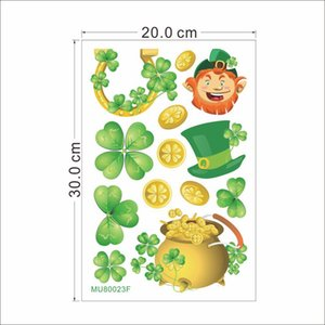 St Clover Wall Decor Finestra Lucky Day Sticker Birthday Family Party Anniversary Decorazione