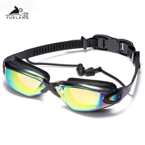 Swimming Goggles Swimming Ear Plugs Professional Waterproof Glasses Hd Uv Silicone Glasses Electroplate Clear Goggles Sqcyje Home2