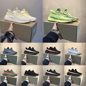Kutu ve Çorap Klasik Renk Eşleştirme Beluga 2.0 Tereyağı Krem Yarı Dondurulmuş Sarı Kanye Batı Erkekler Kadınlar Dışarıda Koşu Ayakkabıları