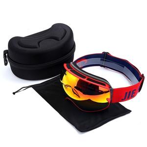 CO seguridad adultos, miopía antivaho doble capa, Gafas de esquí esféricas para hombres