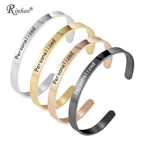 Personalized Engraved Custom Name Stainless Steel Bracelet Jewelry Name Words Letters Custom Bracelet & Bangle For Women men1