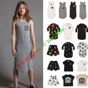 Kids Clothes Sets Summer 2 Pc Toddler Kids Clothes Set Baby Girl Outfits Black Short Sleeve T Shirt And Camouflage Dress Sets Y200525