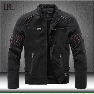 Autumn Winter Men's Leather Jacket Casual Motorcycle PU Jacket Coats Male Fleece Thick Warm Windbreaker High Quality Overcoat1