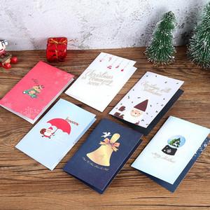 Pop Up Noël carte de voeux de Noël Cartoon Invitation carte de Noël du Nouvel An cadeaux de bébé cartes de vœux OWA2306