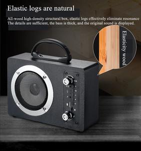 M10 20W de madera 3,5 mm entrada de audio altavoz Bluetooth Subwoofer inalámbrico portátil Outdoor Wireless K Tarjeta de canción U DISK Radio Audio con MIC