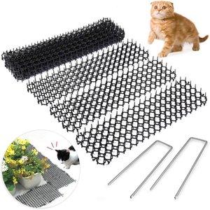 10 шт. 13CMX49CM Сад Colly Colly Split Dig STOP CAT REPELLECT сдерживающий коврик Spike портативный анти-кот собака открытый сад