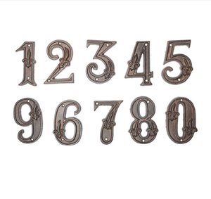 Extra large retro number Creative groceries cast iron metal digital Letter symbol of DIY house number