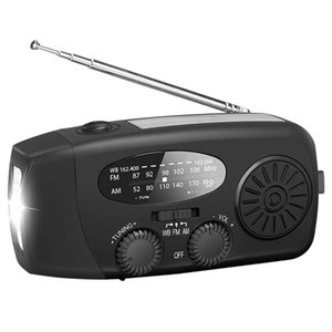Emergency solare della mano Crank Radio Auto Portable AM ​​Powered / FM / NOAA Weather Radio LED per Cell Phone Charger