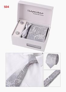 8 CM Erkekler Bağları İpek Kravat Erkek Boyun Bağları El Yapımı Düğün Parti Paisley Kravat İngiliz Tarzı İş Bağları Çizgili