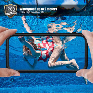 Waterproof Case for iPhone 12 11 Pro Max XR XS MAX Shockproof Case for iPhone 8 7 6 6S Plus Shockproof Silicone Case Cover