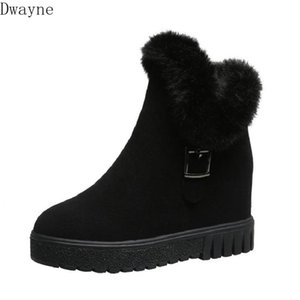 fur snow boots female 2020 new winter wild increase and velvet short boots non-slip warm short tube cotton shoes women