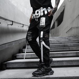Erkekler Moda Gevşek Günlük Kargo Pantolon Vintage Hip Hop Japon Streetwear Harem Pantolon Koşucular Sweatpants Giyim