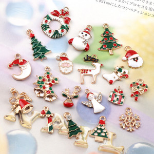 10PC A+ NewYear Fashion Metal Alloy Charm Decor Set Xmas Pendant Drop Ornaments Hanging Christmas Decoration
