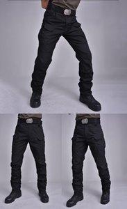 IX7 Taktik pantolon Kargo Pantolon Elastik Çoklu Pocket Erkek Pantolon Su geçirmez aşınmaya dayanıklı Açık Taktik