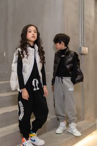 Mädchen Eiderdaune Baumwolle Weste Mode Kinder Zipper verdicken Warm Out Abnutzung Weste Winterkinder All-Gleiches Weste A4823