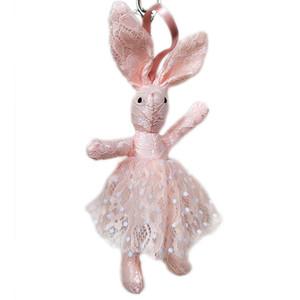 1pcs 6 Colors 25cm Big Ears Rabbit Plush Doll Plush Keychains Kawaii Bunny Keychain for Bag Decoration Mini Rabbit Small Pendant