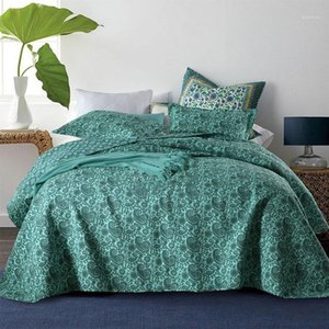 Chausub Paisley Padrão Colcha de Algodão Conjunto de Quilt 3 Pcs Coverlets Cover Capa Fronha Rei Queen Size Quilts Quilted Blanket1