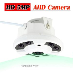 5.0 Megapixel AHD Camera Panoramic 2MP SONY IMX323 Wide Angle Fish Eye Lens 6pcs Infrared led Video Surveillance Dome Cam