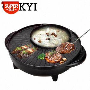 CUKYI Elektrikli Chafing Çanak Elektrikli Pişirme Pan Dumansız Yapışmaz Pan Büyük Barbekü Çanak 1700 W Alüminyum Ayarlanabilir Sıcaklık # 9Z4Q