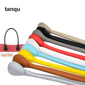Tanquia Nuovo Breve lungo PU Faux Leather Obag Morbido Maniglia colorata per Mini Classic O Borsa Borse da donna Borse da donna EVA Borsa fai da te Q1230