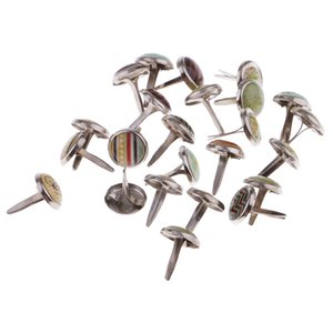 50 Pezzi misto Mini rotonda Ferro Brad carta del mestiere di abbellimento per DIY Scrapbook